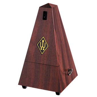 Metronome - Plastic Casing - Mahogany - Without Bell