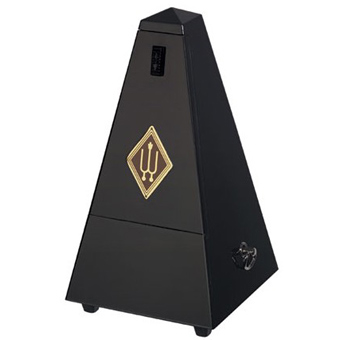 Metronome - Wooden Casing - High Gloss Black - Without Bell