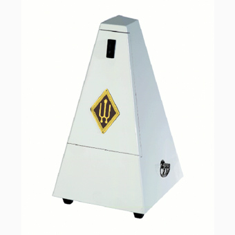 Metronome - Wooden Casing - High Gloss White - Without Bell