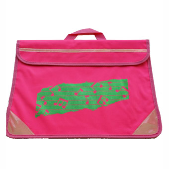 Music Bag Duo - Music Notes - Fluorescent Pink/Reflective Green