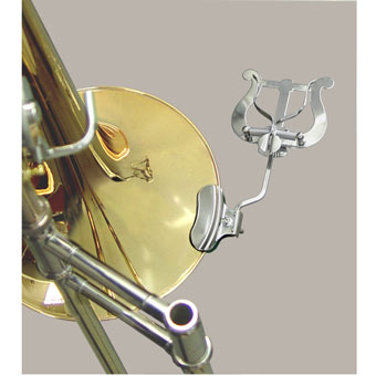 Trombone Bell Clamp Cardholder - Nickel