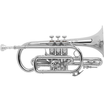 Stradivarius 184ML Bb Cornet in Silver