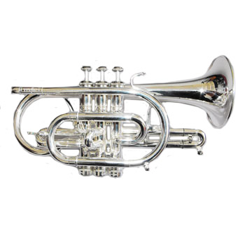 Titan Bb HE Cornet in Silver with Gold Brass Bell