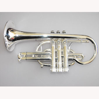 Stomvi Titan Bb HE Cornet in Silver with Gold Brass Bell