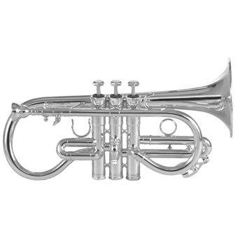Eb Soprano Cornet in Silver - Instrument Only
