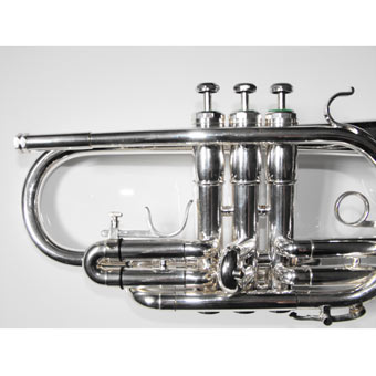 F E Olds Superstar (Long Model) Bb Cornet in Silver