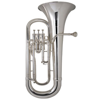 162 New Standard 3 valve Euphonium in Silver