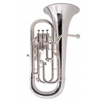 165 New Standard 4 valve Euphonium in Silver