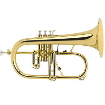 AC154R Flugel Horn in Lacquer - Gold Brass Bell