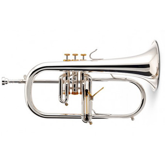 Elite Flugel Horn in Silver - Copper Bell