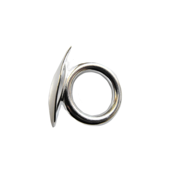 Large Diameter Tuba Carriage Ring in Silver