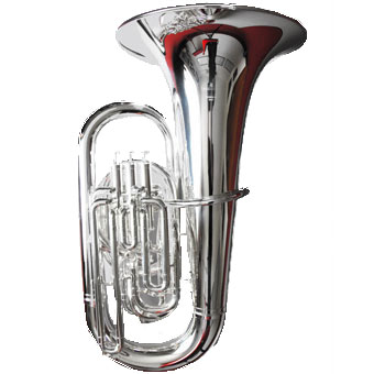 Sovereign BE981S EEb Tuba in Silver - Concert Model