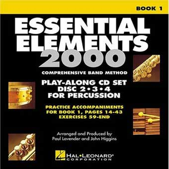 Essential Elements 2000 Play-Along CD Set For Percussion - Book 1