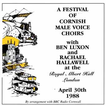 A Festival Of Cornish Male Voice Choirs - Royal Albert Hall 1988