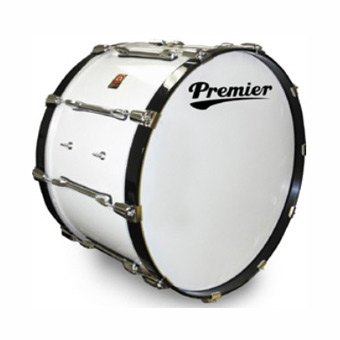 "Parade Series 3728W 28"" x 14"" Marching Bass Drum - White"