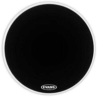 "22"" Black Resonant Bass Drum Head"