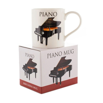 Music Word Mug - Piano