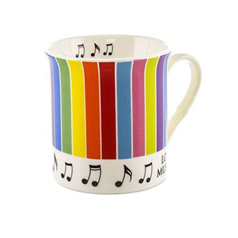 Colour Block Mug - Stripes