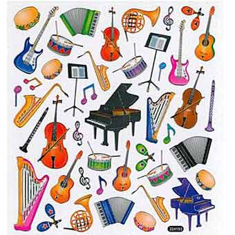 Stickers - Musical Instruments