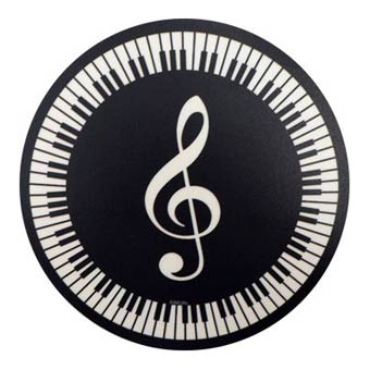 Mouse Mat - Treble Clef And Keyboard Design
