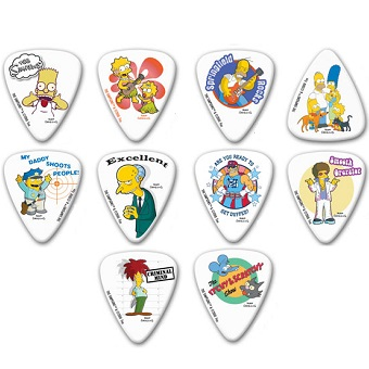 Simpsons Collection Plectrums x 10