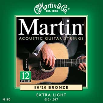 80/20 12 String Bronze Acoustic Strings - Extra Light