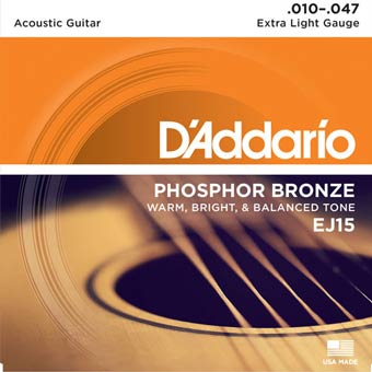 Phosphor Bronze Acoustic Strings - Extra Light