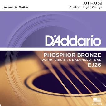 Phosphor Bronze Acoustic Strings - Custom Light