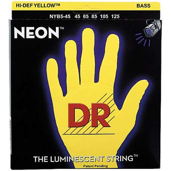 Hi-Def Neon Yellow Bass Strings 45 - 105