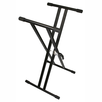 Double Braced Keyboard Stand - Black