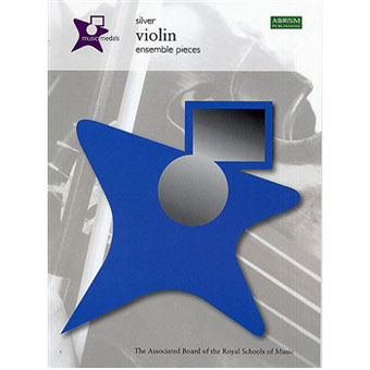 Music Medals Violin Ensemble Pieces - Silver