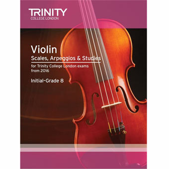 Violin Scales, Arpeggios & Studies - Initial - Grade 8 (from 2016)