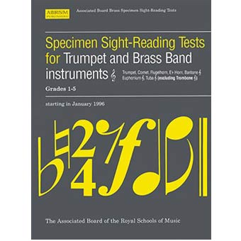 Specimen Sightreading Treble Clef Brass Grade 1-5