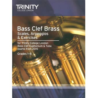 Trinity Bass Clef Brass Scales & Exercises - Gd 1-8 - From 2015