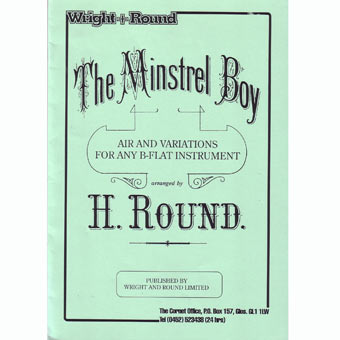 The Minstrel Boy - Bb Solo & Piano - Arr Round