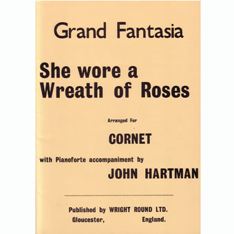She Wore A Wreath Of Roses - Hartman - Bb Solo & Piano