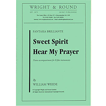 Sweet Spirit Hear My Prayer - Weide - Bb Solo With Piano Accompaniment