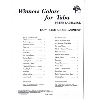 Winners Galore For Tuba - Easy Piano Accompaniment