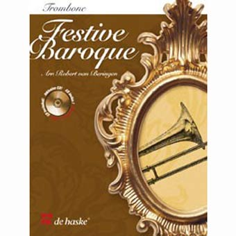 Festive Baroque For Trombone - Book and CD (treble and bass clef)