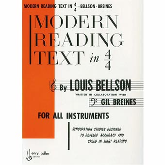 Modern Reading Text In 4/4 - Louis Belson & Gil Breines