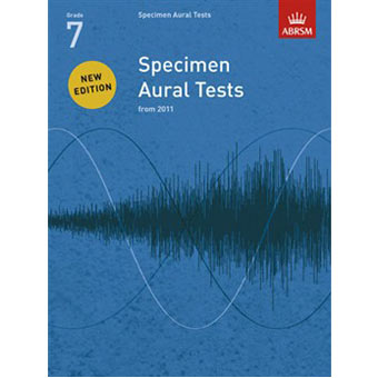 Specimen Aural Tests - Grade 7 (2011+) Book Only