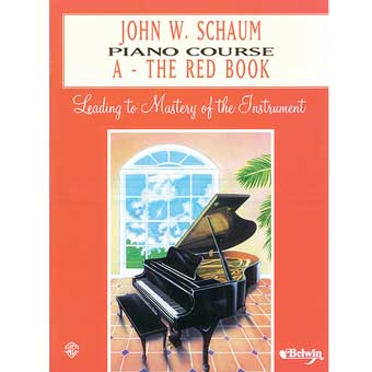 J W Schaum Piano Course A - The Red Book