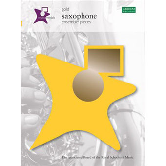 Music Medals Saxophone Ensemble Pieces - Gold