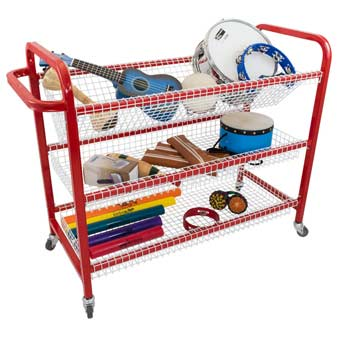 Percussion Trolley With Wire Shelves