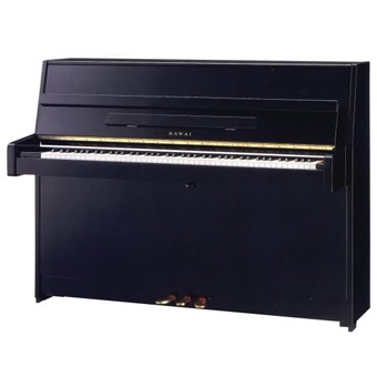 K-15E Upright Piano - Polished Ebony