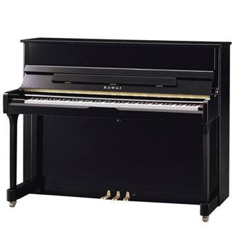 K-200 Upright Piano - Polished Ebony