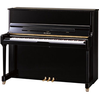 K-300 Upright Piano - Polished Ebony