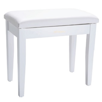 RPB-100WH Piano Bench with Storage Compartment - White
