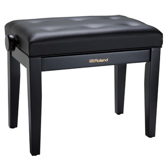RPB-300BK Piano Bench with Adjustable Cushioned Seat - Black