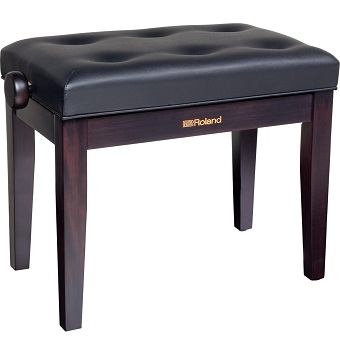 RPB-300RW Piano Bench with Adjustable Cushioned Seat - Rosewood